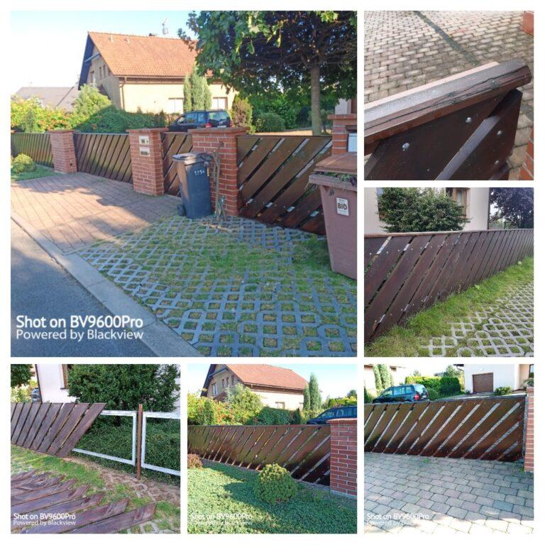 Renovace dřevěného plotu
